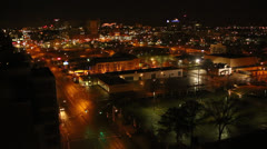 Memphis Night Time-Lapse Union Avenue - stock footage