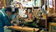 Wood workshop Stock Footage