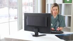 Nurse X-ray Stock Footage