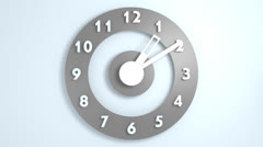 Simple plastic clock in 24 hours Stock Footage