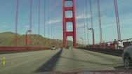 Driving across Golden Gate Bridge San Francisco POV HD 020 Stock Footage