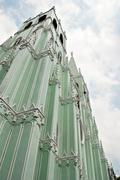 Metal Prefabricated Church Stock Photos