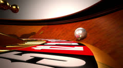 Roulette table VBHD0362 - stock footage