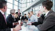 Diverse team of business people in a meeting Stock Footage
