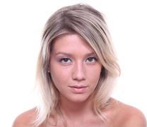 Beautiful girl face.perfect skin concept Stock Photos