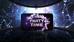 22 disco blue partytime transition Stock Footage
