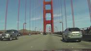 Golden Gate Bridge driving across POV HD 020 Stock Footage