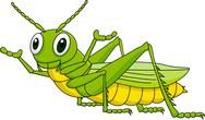 Stock Illustration of Green grasshopper cartoon
