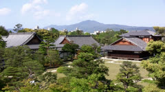 Nijo Castle, Kyoto, Japan Stock Footage