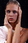 sexual wet woman - a studio picture - stock photo