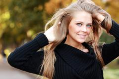 Stock Photo of beautiful young blonde woman