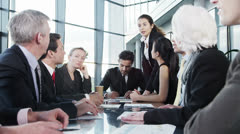 Diverse, happy business team in a meeting Stock Footage