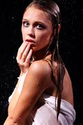 Sexual wet woman - a studio picture Stock Photos
