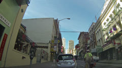 San Francisco China town construction worker walk HD 013 Stock Footage