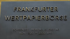 Frankfurt Stock Exchange Frankfurt Boerse Frankfurt am Main Germany Stock Footage