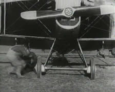 World War 1 - Airfield - stock footage