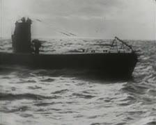 World War 1 - Submarine Stock Footage