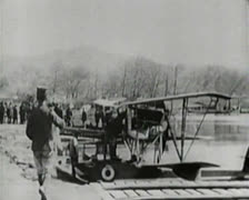 World War 1 - Aircraft Seaplanes Stock Footage