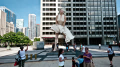 Marilyn Monroe Statue Stock Footage