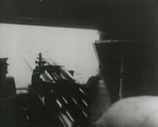 World War 1 - Artillery Fire - stock footage