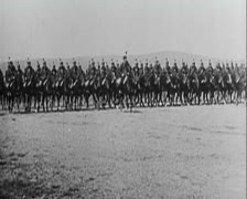 World War 1 -Cavalry - stock footage
