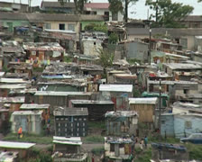 Informal Settlement to affordable housing Stock Footage