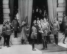 World War 1 - Prussian Military Parade Stock Footage