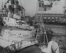 World War 1 - German Warships Stock Footage