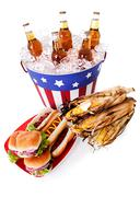Stock Photo of summer: wide angle of patriotic holiday food