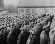 World War 1 - Prussian Military Parade and Inspection Stock Footage