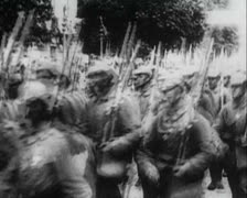 World War 1 - Prussian Military Parade in a City Stock Footage