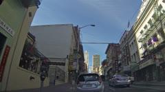 San Francisco China town parking traffic road HD 012 Stock Footage