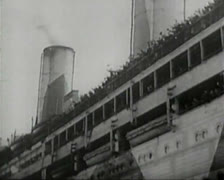 World War 1 - German Freighter / Liner - stock footage