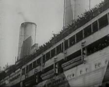 Stock Video Footage of World War 1 - German Freighter / Liner