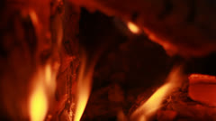The Space in the Fire Burning Fireplace Background - 25FPS PAL Stock Footage