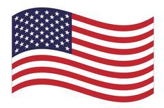 Stock Illustration of US flag