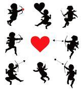 Valentine's Day set - stock illustration
