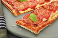 Tomato mozzarella tart Stock Photos