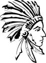 Stock Illustration of Indian chief (black and white)