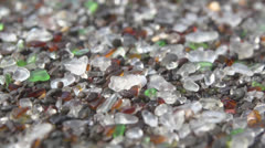 Glass Beach in Fort Bragg, Dolly Shot Close Up Stock Footage