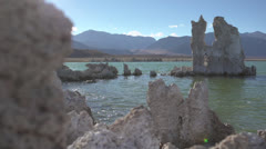 Mono Lake, Dolly move, Eastern Sierra - stock footage