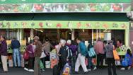 Chinatown business vegetable market sidewalk San Francisco HD 5591 Stock Footage