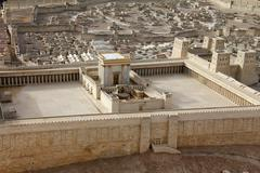 Stock Photo of second temple. model of the ancient jerusalem.