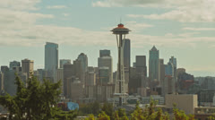 Seattle Skyline Timelapse Pilvet Arkistovideo