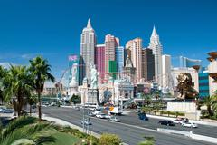 new york-new york on the las vegas strip in nevada - stock photo