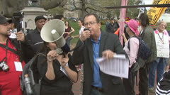 Protest against military drones Stock Footage