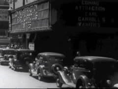 EARL CARROL'S VANITIES ON THEATRE MARQUEE - 1935 - stock footage