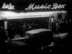 MUSIC BOX THEATRE ON BROADWAY #2 Stock Footage