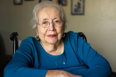 elderly woman - stock photo