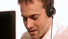 Male telephonist - stock footage